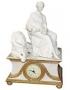 Настольные часы Дама со львом - Н937